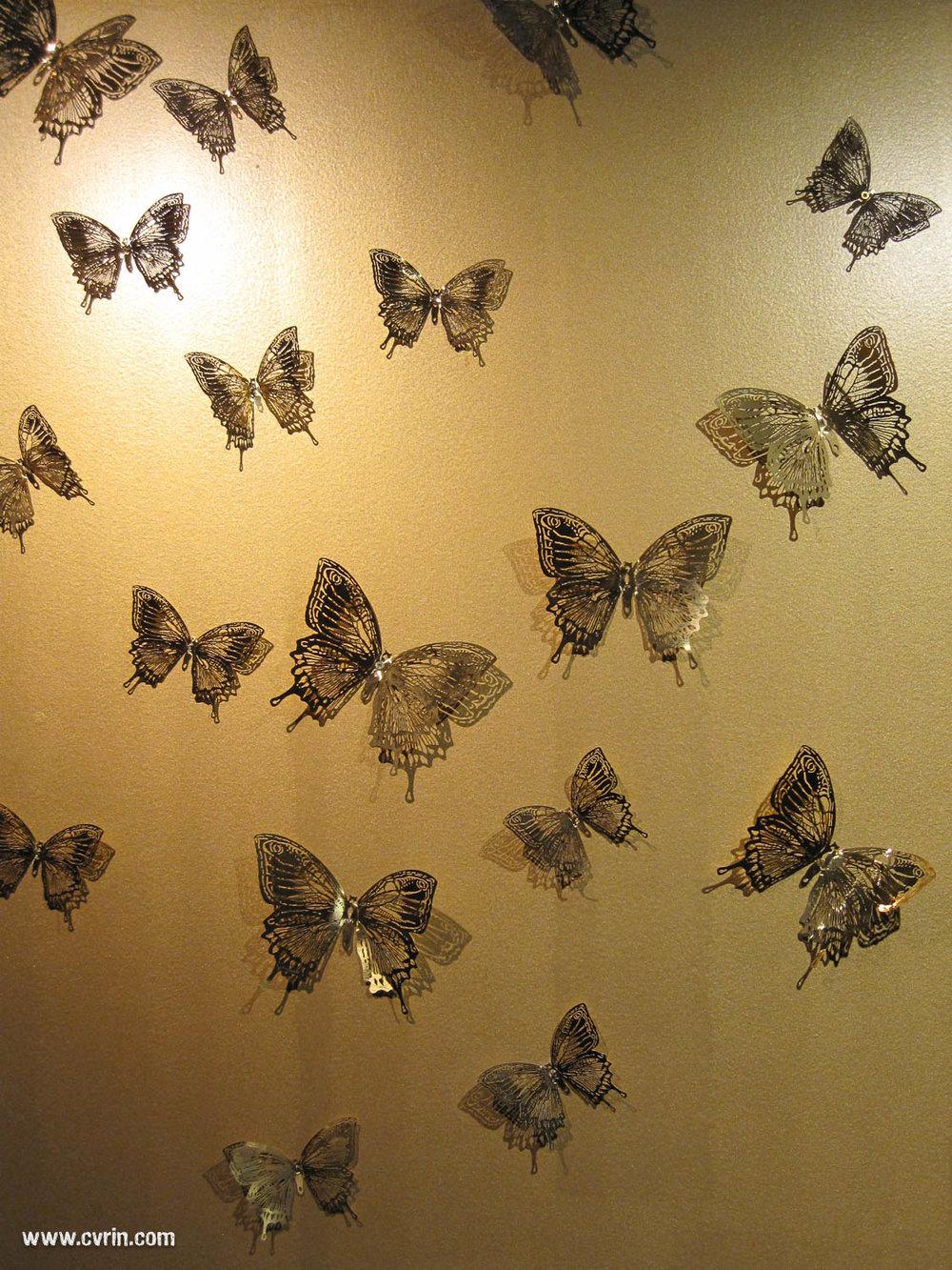 La décoration de notre hôtel, plein de papillons partout!