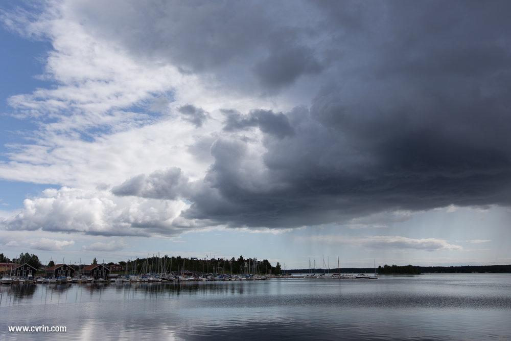 La météo s'amuse à Hudiksvall