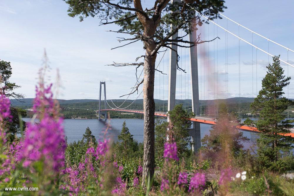 Höga Kusten (pont de la Haute Côte): le plus long pont suspendu de Suède avec 1210 m