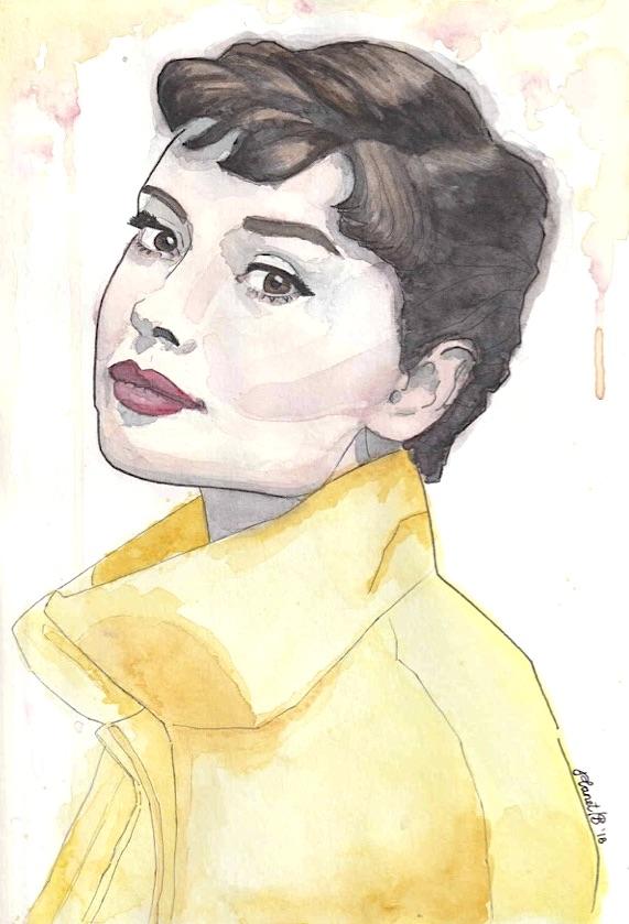 Audrey Hepburn - yellow