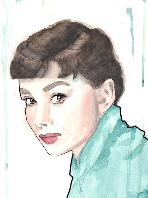 Audrey Hepburn - green