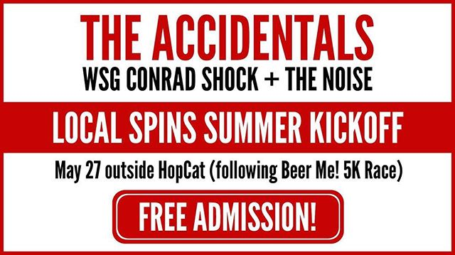 ||| Tomorrow ||| 4:30PM ||| Outside @hopcatgr ||| . . . We are so very stoked to team up w/ @localspins & @theaccidentalsmusic to celebrate Local Spins' 6th year of spinnin'. @jsinkevics does some amazing things for the West Michigan music scene, and his efforts have been instrumental in our start as a band. . . . Grab ur sun screen and get your Macarena ready cuz it's going to be dooopppeeee 👌😎🌞 . . . #livemusic #summer #summermusic #festivalseason #garagerock #michigan #michiganmusic #michigansummer #grandrapids #grandrapidsmi #grandrapidsmusic