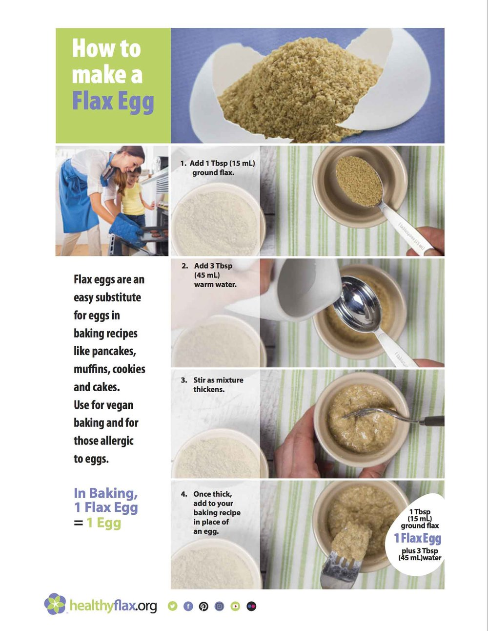 How to Make a Flax Egg - Consumer-friendly factsheet.