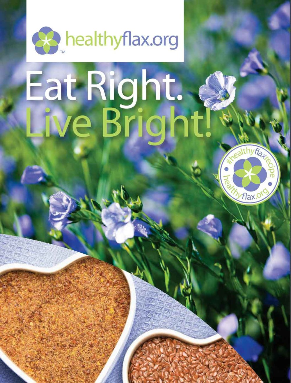 Eat Right! Live Bright! - Consumer-friendly recipe brochure.