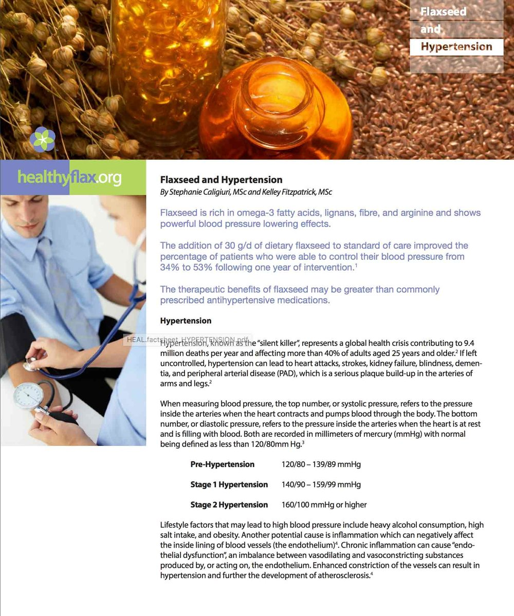 Flaxseed and Hypertension - Read the full article as a PDF.