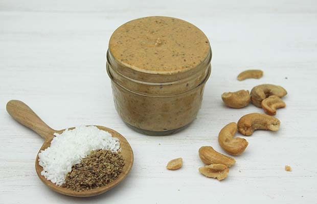 Source: Coconut Cashew Flax Butter, BlueSkyIdeas