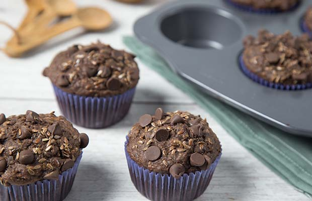 Source: Dark Chocolate Banana Flax Muffins, Renee Kohlman