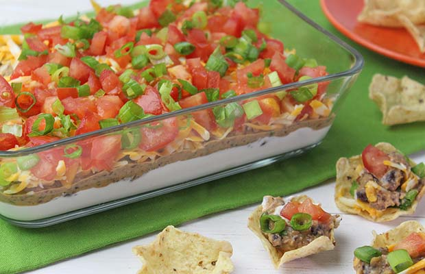 Source: Flax and Black Bean Layer Dip, HealthyFlax.org