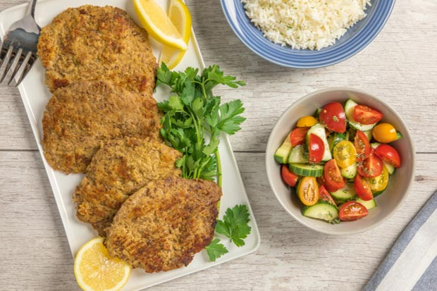 Source: Flax Crusted Pork Cutlet, HealthyFlax.org