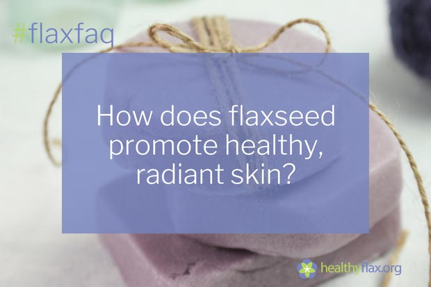 Answer - Flaxseed has a unique and healthy fatty acid profile in the oil with 57 percent as ALA, giving the seed a very favourable omega-6 to omega-3 ratio of 0.3:1. Flaxseed therefore provides a very important source of omega-3 for skin health. Flaxseed naturally contains a very active and stable antioxidant system that protects its oil content of ALA. The antioxidant system in flaxseed represents the interaction of a group of compounds working synergistically. Flaxseed contains several bioactive compounds such as lignans, phenolic acids, anthocyanin pigments, several flavonols and flavones, and phytic acid – all known to have antioxidant activity. These powerful antioxidants can reduce the activity of cell-damaging free radicals that are generated through oxidation in the body and thus, can help protect the skin from damage.