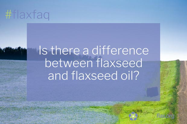 "Answer - Yes. Flaxseed oil is the purified fat that results from the cold-pressing of flaxseeds. Because it is the fat portion of the seed, it contains high levels of omega-3 ALA (55-58 percent on a per weight basis in comparison to 18-23 percent from whole or milled seed). Flaxseed oil doesn't have the fibre and protein found in the rest of the seed. Some flaxseed oil manufacturers do ""add"" back in the lignans – check the label for these products. If the label doesn't identify lignans, they are not present."