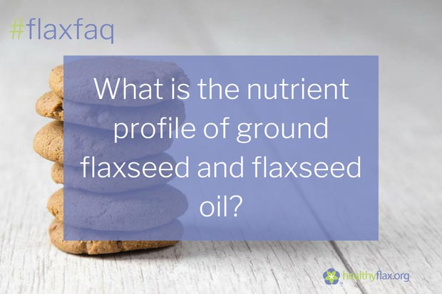 Answer - On average, Canadian flaxseed contains 41% fat (23% as ALA), 20% protein, and 28% total dietary fibre. A detailed nutrient breakdown of flaxseed and its oil is found in the below table.