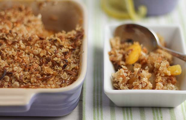 Source: Four Fruit and Coconut Oat Crumble, Nancy Hughes