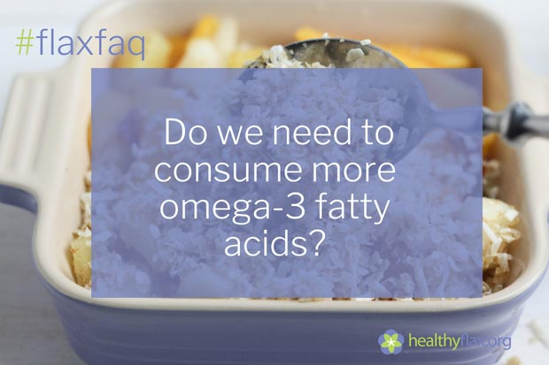 Answer - Current intakes of omega-3 fatty acids may not be optimal. Most diets only contain about 0.1 to 0.2 g or 100 to 200 mg of eicosapentaenoic acid (EPA) and docosahexaenoic acid (DHA) per day. Some experts recommend higher intakes of all omega-3 fatty acids, based on clinical evidence showing that omega-3 fats help reduce inflammatory reactions, promote the health of blood vessels and reduce the risk of heart attack, stroke and other chronic diseases. Higher ALA intakes of 2 g to 3 g per day have been proposed. An intake of 500 mg of EPA + DHA daily has been recommended to reduce risk of heart disease. For people with existing heart disease, an intake of 1 g (1000 mg) of EPA + DHA daily is recommended.