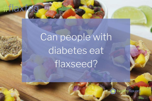 Answer - Yes. Flaxseed is packed with nutrients that help in the fight against diabetes. Flaxseed lignans and fibre protect against the development of diabetes and assist those with diabetes in controlling their blood sugar levels. Dietary intake of ALA is associated with a modest reduction in diabetes risk and may help to increase insulin sensitivity.
