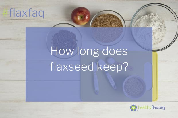 Answer - If you buy whole flaxseed, don't be afraid to keep a jar of it handy on your kitchen counter. Whole flaxseed is naturally wrapped in a perfect package — a hard seed coat that preserves its goodness for up to a year or longer. If you grind flaxseed yourself (for example in a coffee grinder), it is best stored refrigerated in an opaque container and will keep for at least 90 days. Because ground flaxseed flows readily even when frozen, many users choose to store ground flaxseed in the freezer for even longer shelf life. Also good quality milled flaxseed may be purchased, but attention should be paid to the manufacturers recommendation as to storage conditions. Overall the storage of milled flax is similar to other whole grain flour or raw nuts. Roasted flaxseed should also be refrigerated or frozen. Flaxseed oil should be refrigerated and usually has an expiration date about four months after pressing.