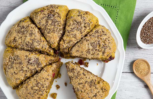 Source: Pumpkin and Cranberry Flax Scones, HealthyFlax.org