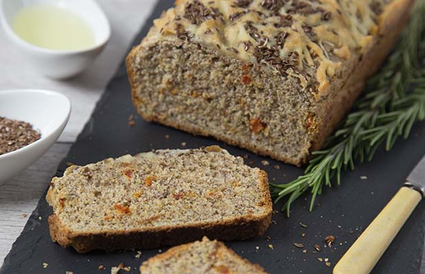 Source: Sundried Tomato, Herb and Flax Bread, Renee Kohlman