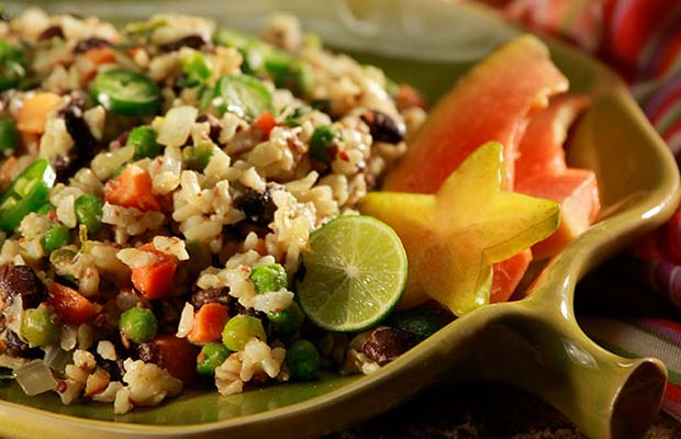 Source: Warm Caribbean Beans and Rice, SaskFlax.com