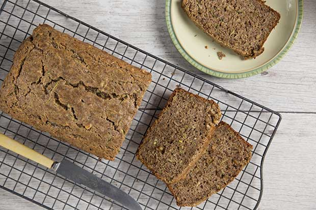 Source: Zucchini Loaf with Flaxseed and Walnuts, Renee Kohlman