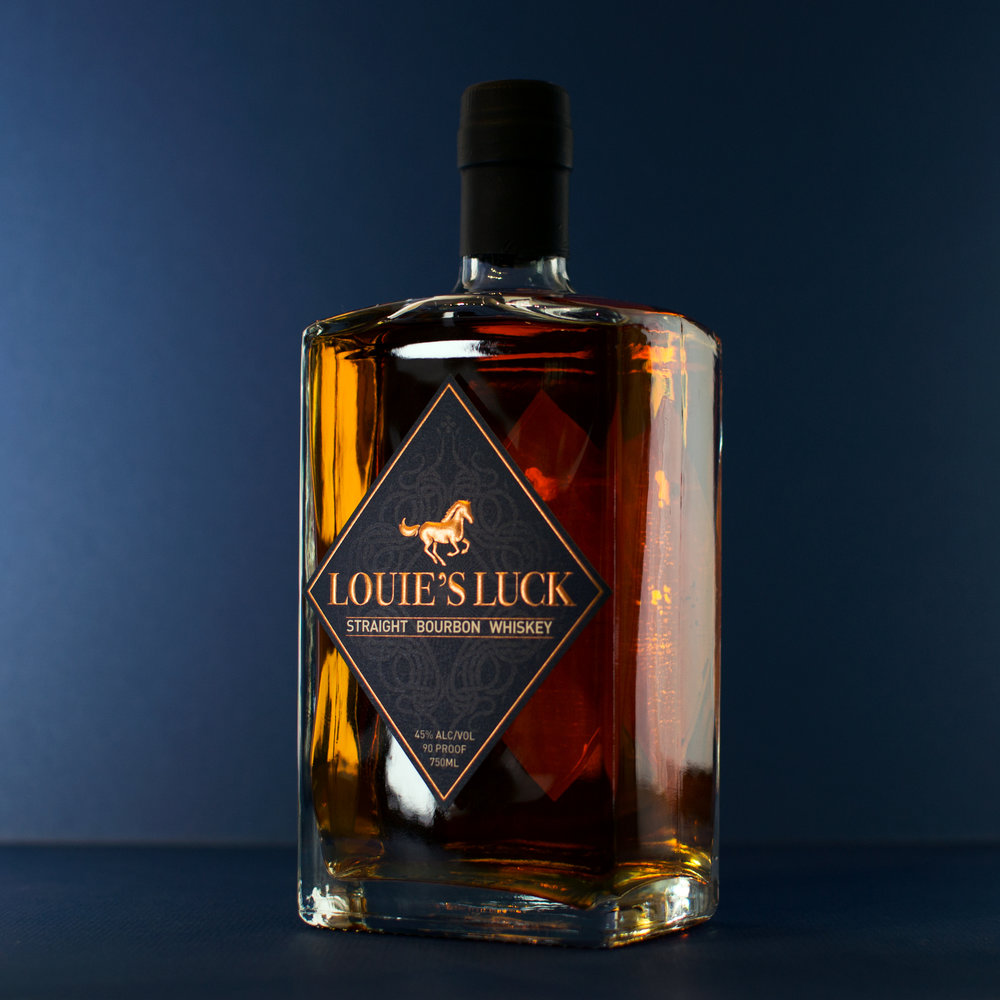 Louie's luckstraight bourbon whiskey - Click here for more details