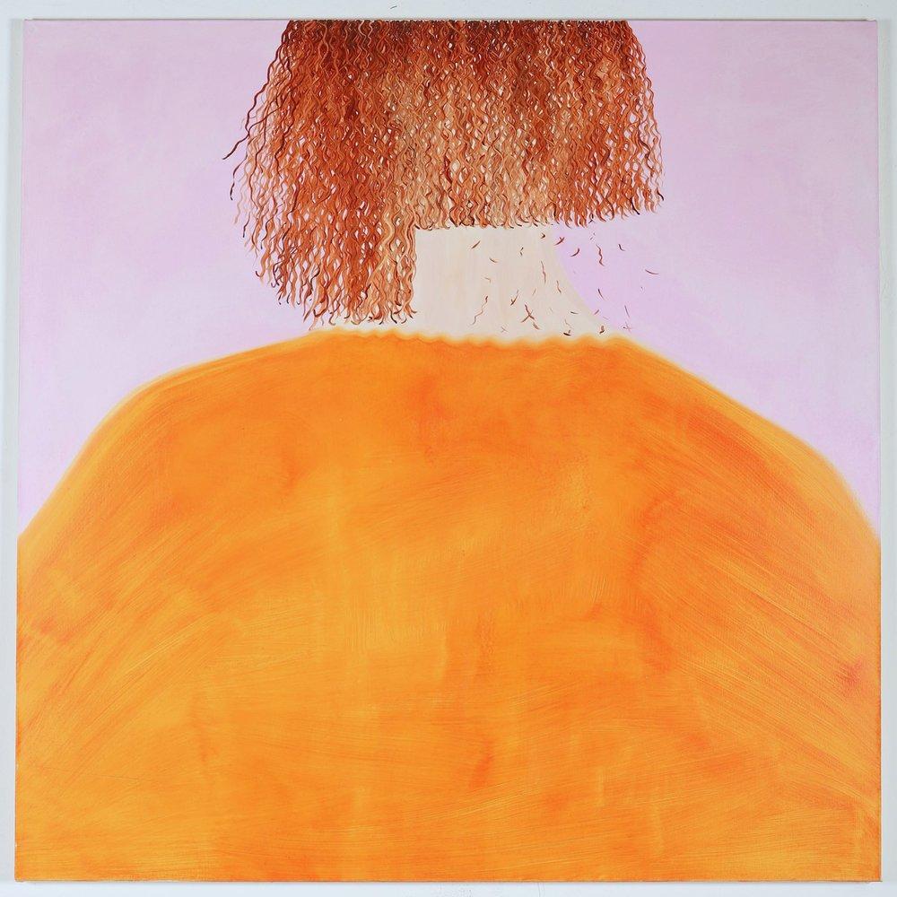 Snip , oil on canvas, 127 x 127 cm, 2018