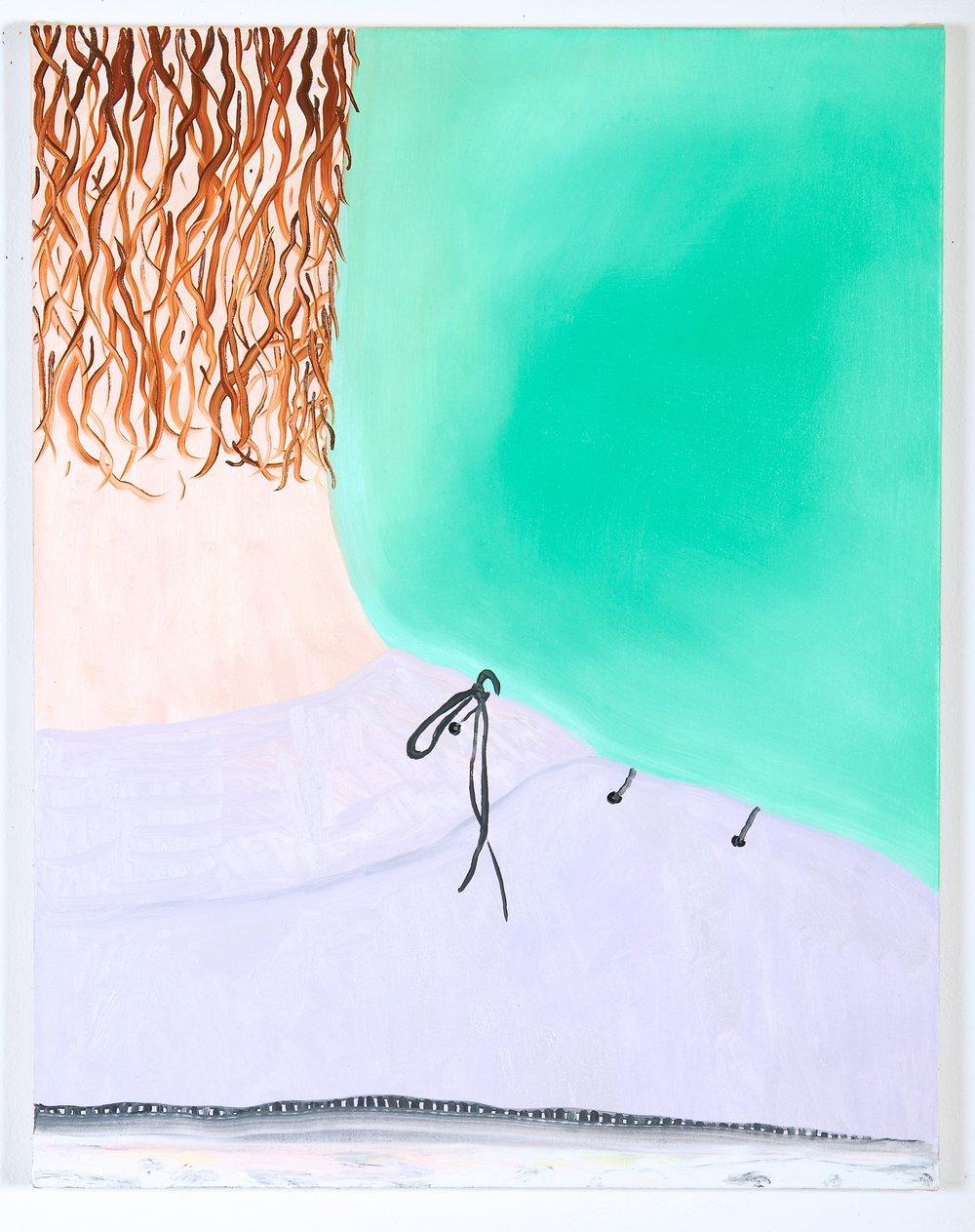 Beastly , oil on canvas, 60 x 50 cm, 2018