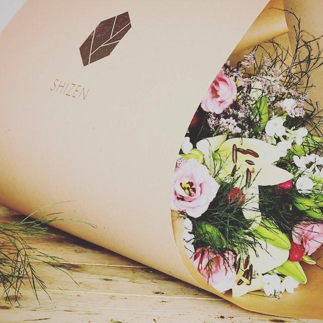 Packaging for @shizen_flowershop 🖤🖤🖤