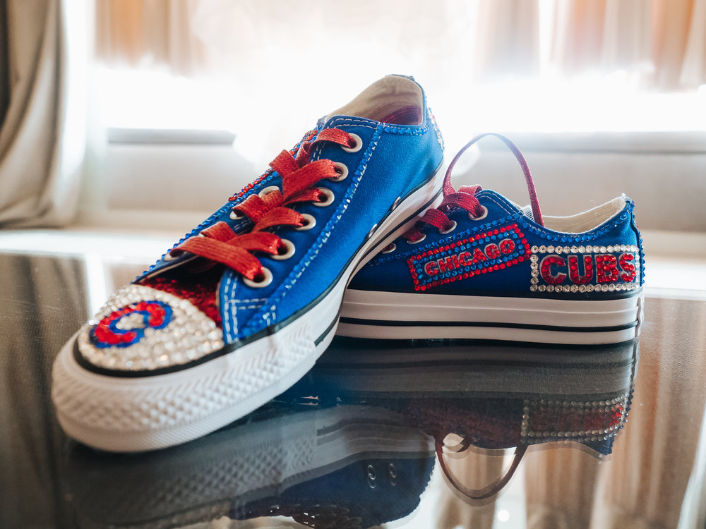 chicago cubs wedding shoes