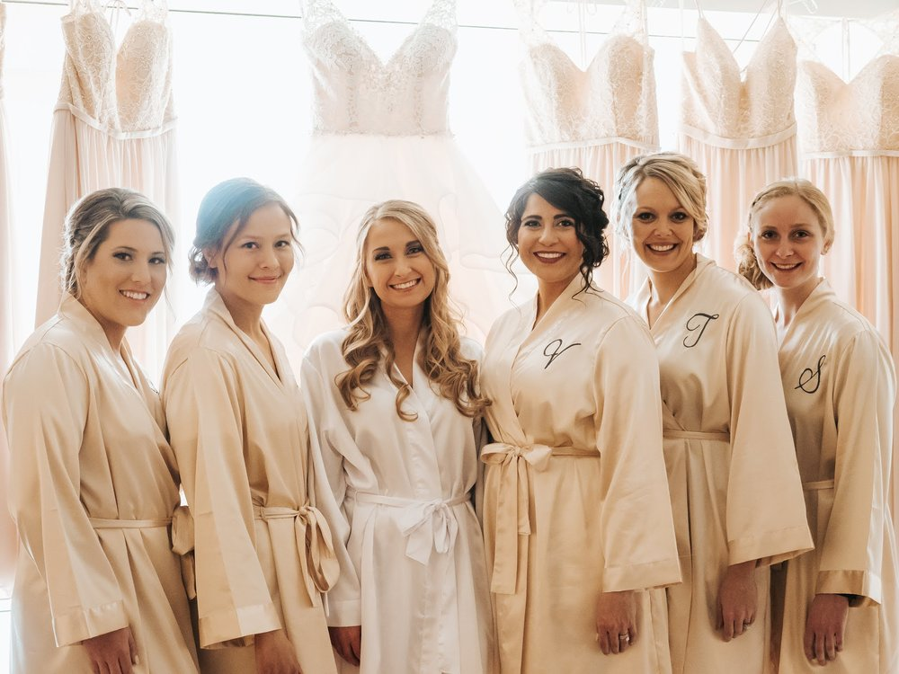 Robes are a great bridesmaid gift, plus are great for getting ready photos! Credit:  Windy City Production