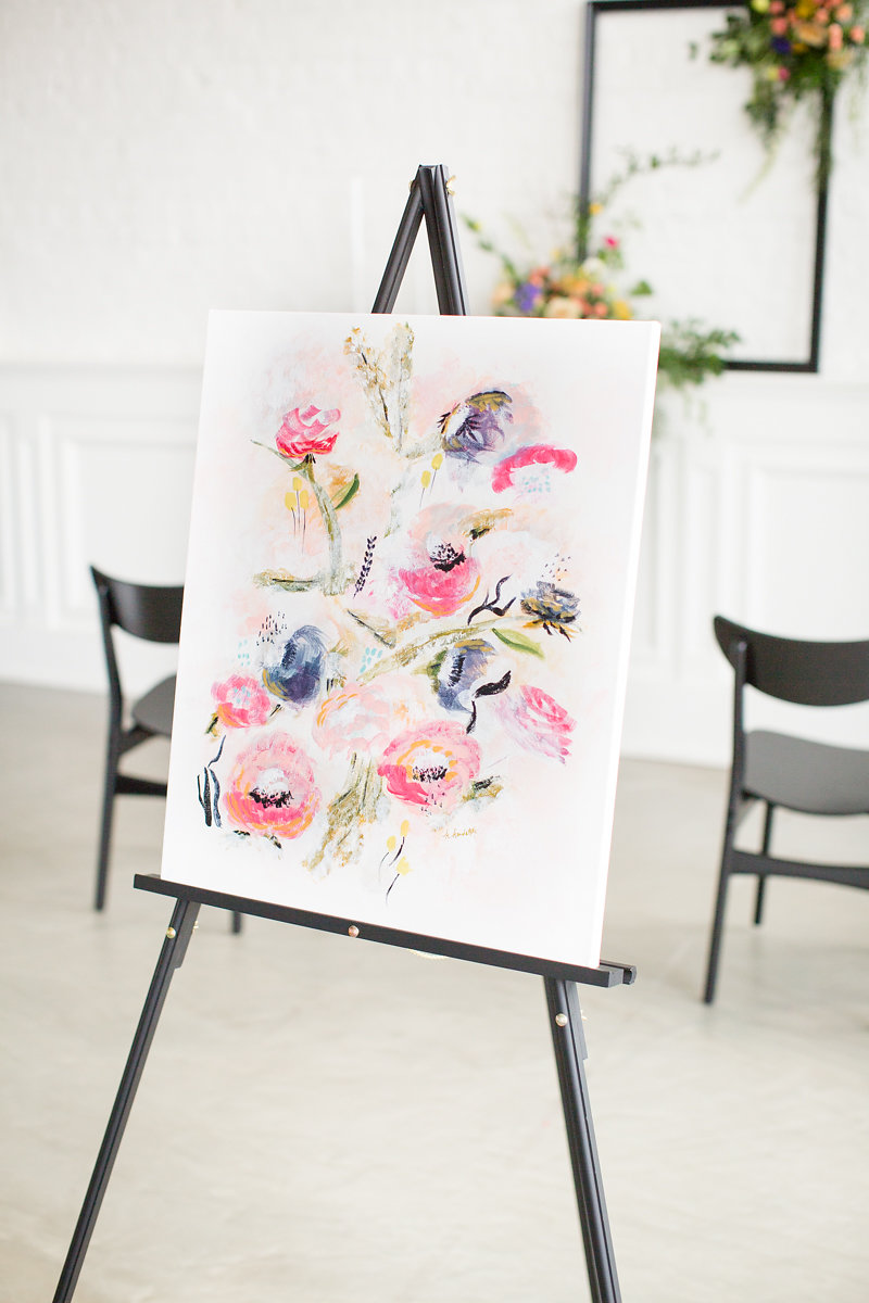 Floral Painting Chicago Wedding Alexandra Lee Photography