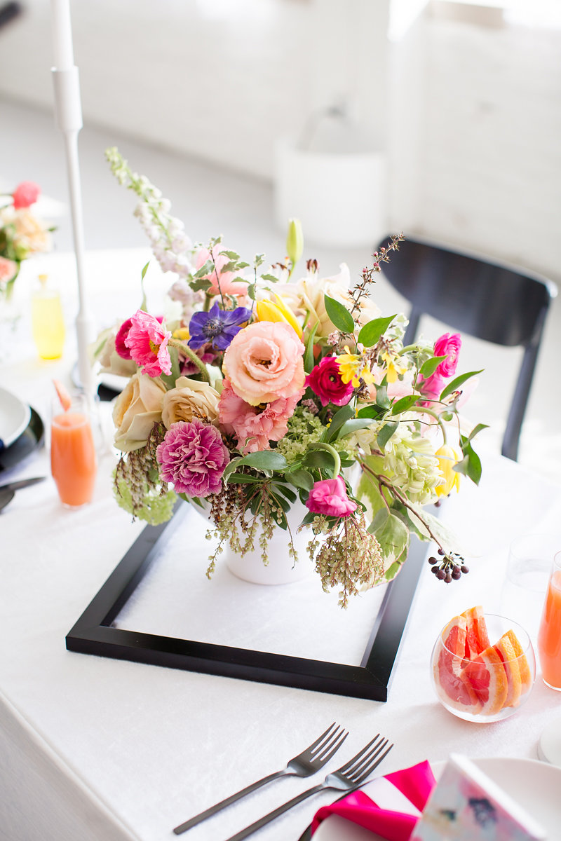 Floral Table Centerpieces Chicago Wedding Alexandra Lee Photography