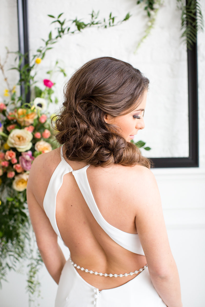 Open Back Wedding Dress Chicago Wedding Alexandra Lee Photography