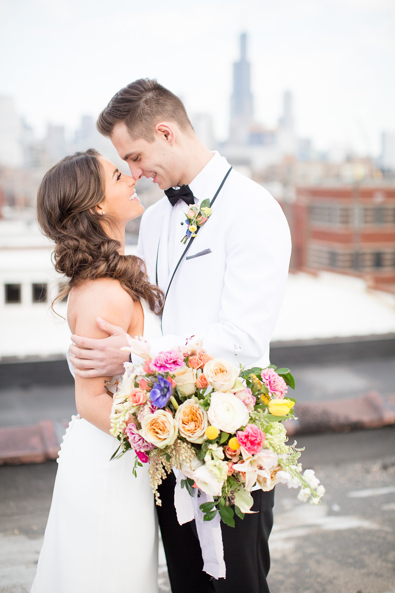 Bride and Groom Portrait Chicago Wedding Alexandra Lee Photography
