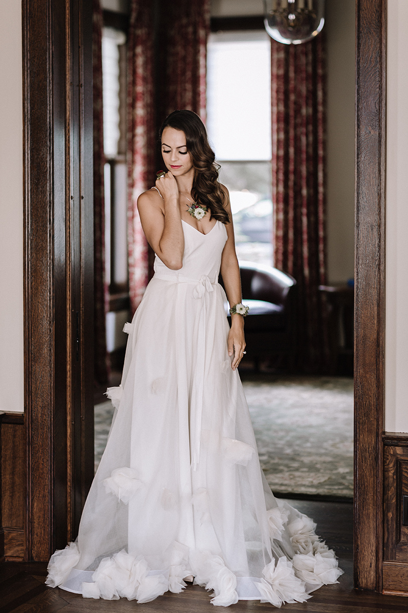 A Line Wedding Dress Chicago Wedding lisa kathan photography