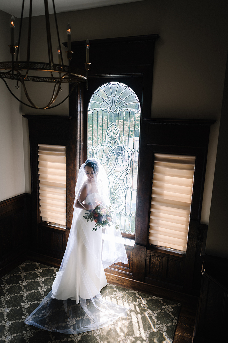 Sexy Fit and Flare Wedding Gown Chicago Wedding lisa kathan photography