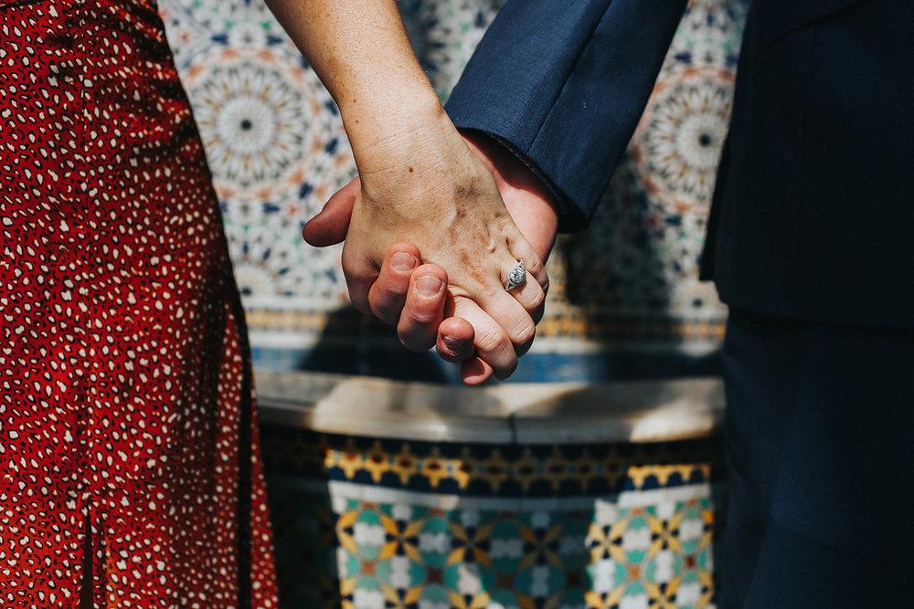 White Gold Engagement Ring Couple Engagement Photoshoot Garfield Park Conservatory Chicago Wedding Meg Adamik Creative
