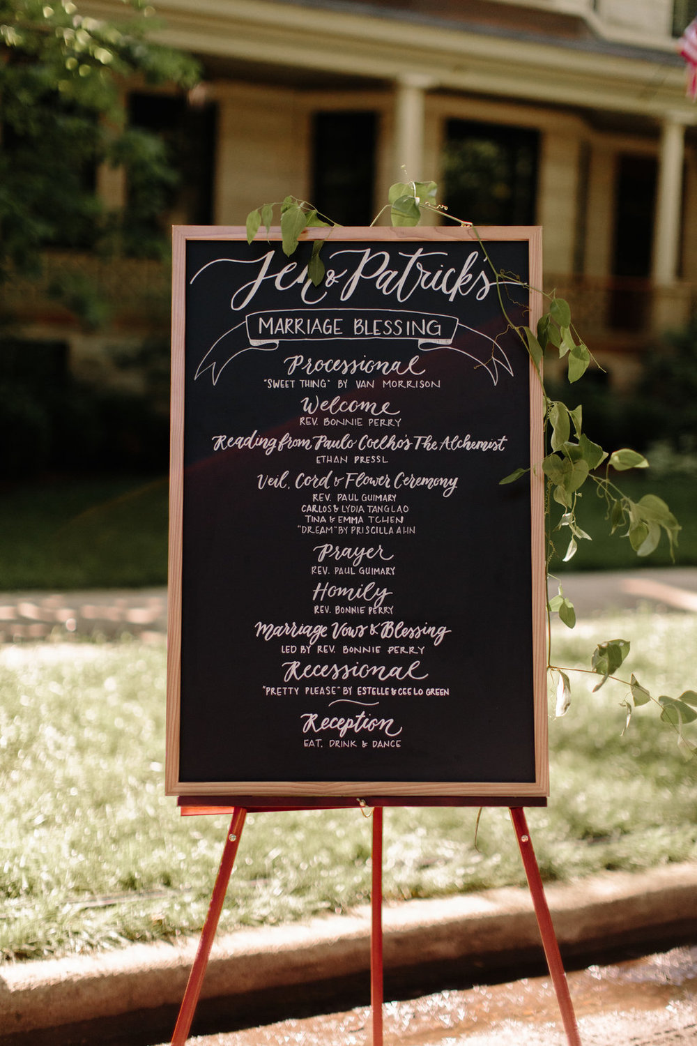 Chicago Chalkboard Wedding Sign Erika Mattingly Photography
