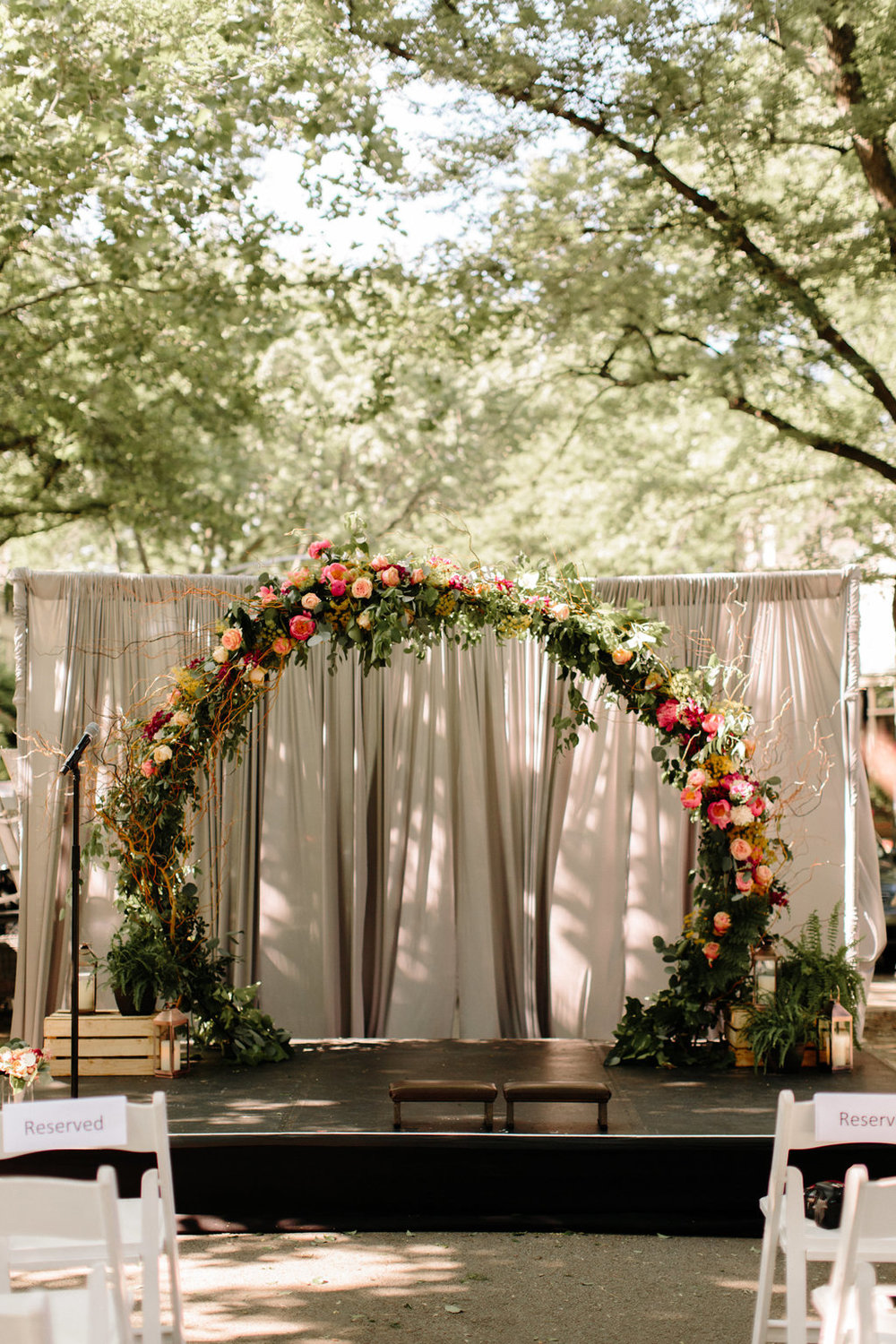 Floral Wedding Arch Chicago Wedding Erika Mattingly Photography