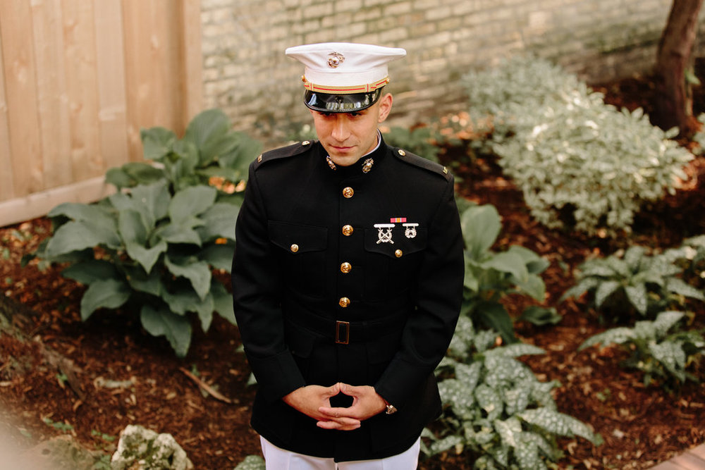 Armed Forces Groom Chicago Wedding Erika Mattingly Photography