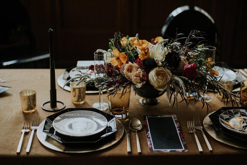 Floral Wedding Centerpieces Chicago Wedding Allie Appel Photography