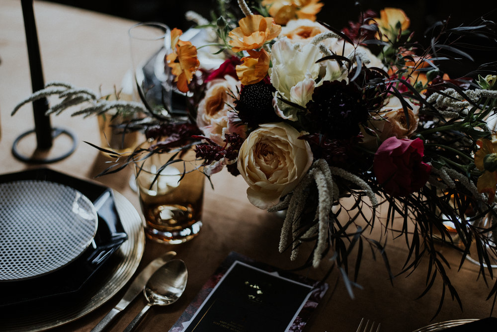 Colorful Floral Wedding Center Pieces Chicago Wedding Allie Appel Photography