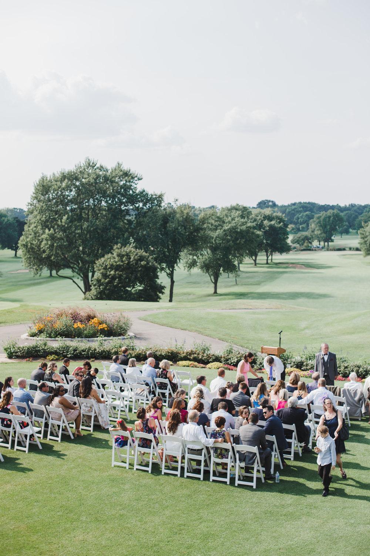 Biltmore County Club Chicago Wedding Ceremony Grey Garden Creative