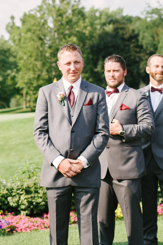 Gray Groomsmen Tuxes Chicago Wedding Grey Garden Creative