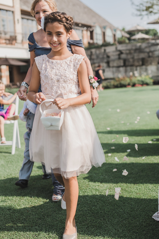 Lace Flower Girl Gown Chicago Wedding Grey Garden Creative