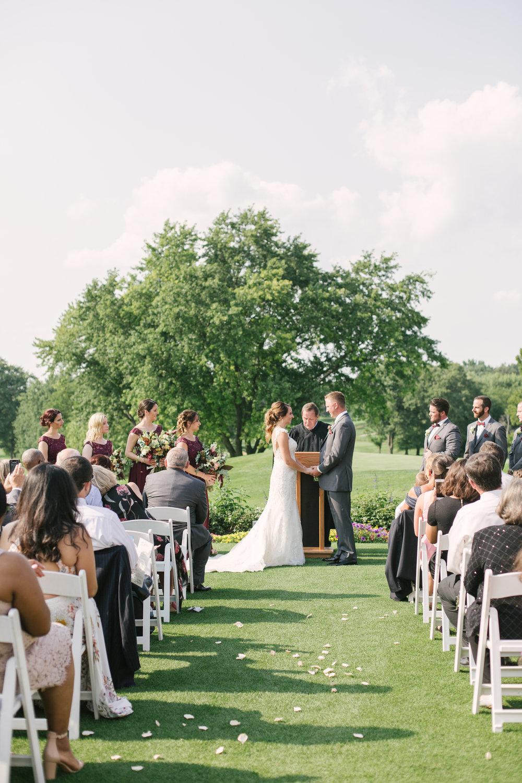 Biltmore Country Club Chicago Wedding Ceremony Grey Garden Creative