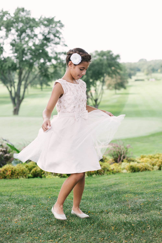 Sequin Flower Girl Dress Chicago Wedding Grey Garden Creative