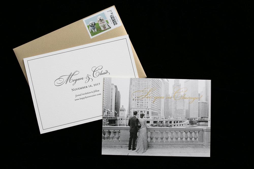 Black and Gold Wedding Invitation Chicago Wedding Emilia Jane Photography