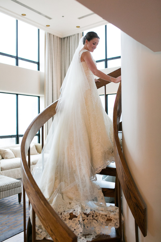 Floor Length Lace Veil Chicago Wedding Emilia Jane Photography