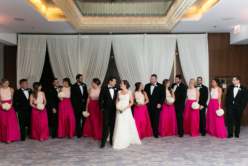 Fuchsia Pink Bridesmaid Dresses Chicago Wedding Emilia Jane Photography